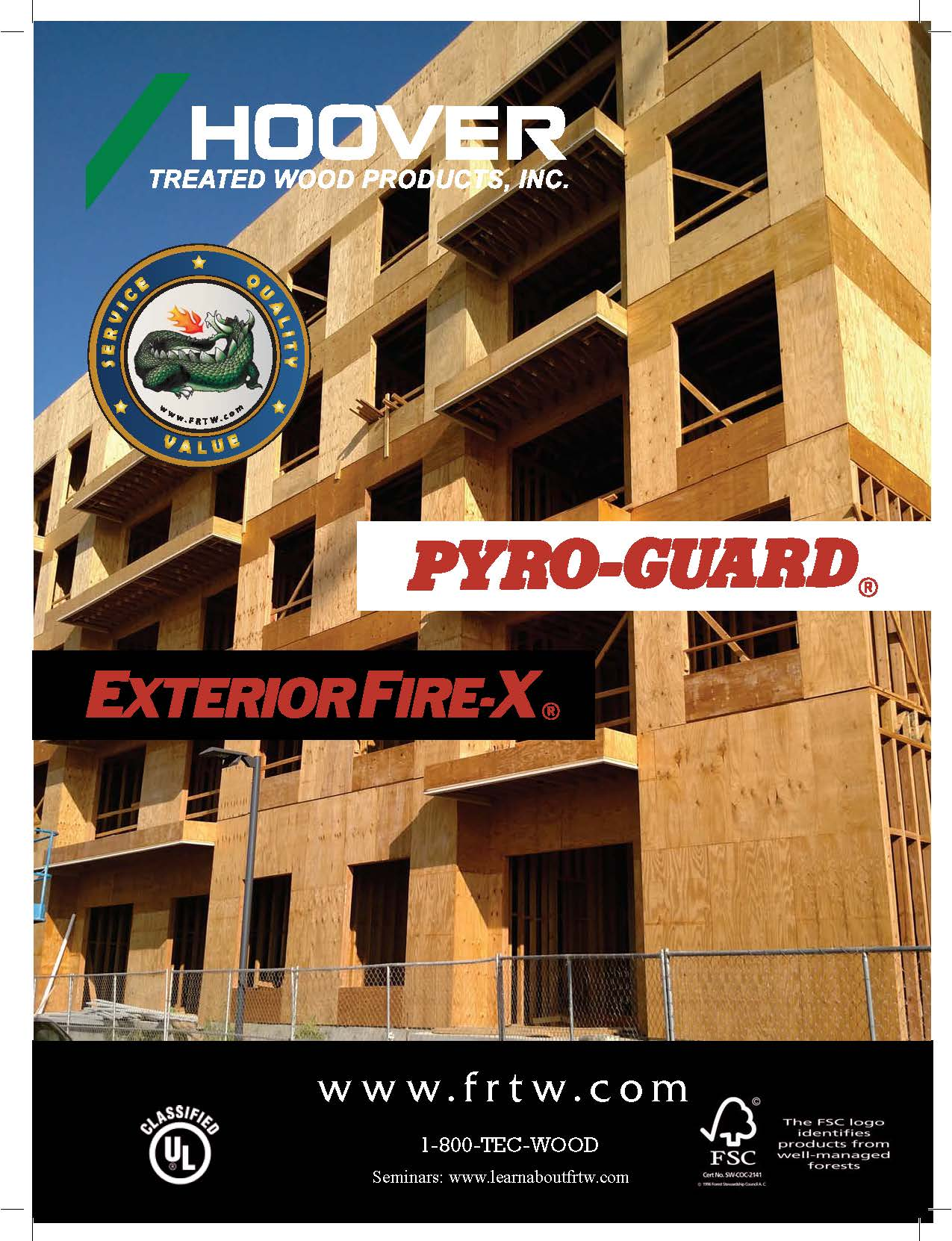 Pyro guard fire retardant treated lumber plywood weekes forest products for Exterior fire retardant treated wood