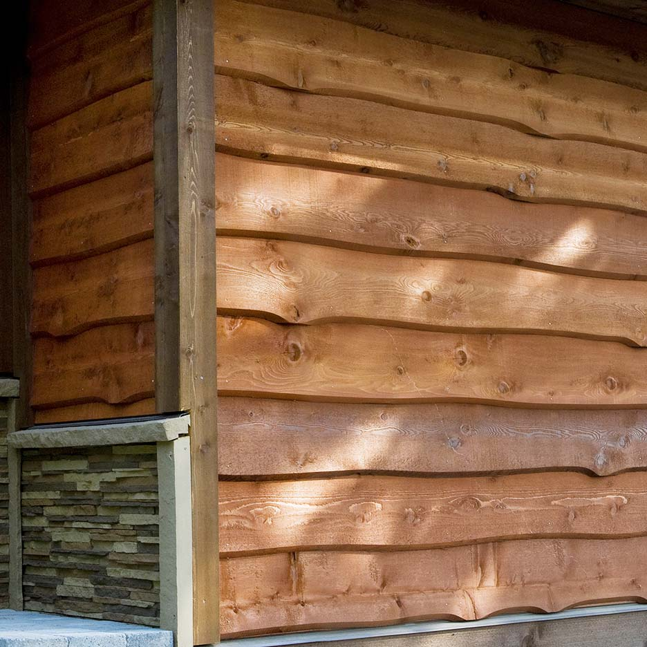 Haida Skirl® Wavy Cedar Siding | Weekes Forest Products