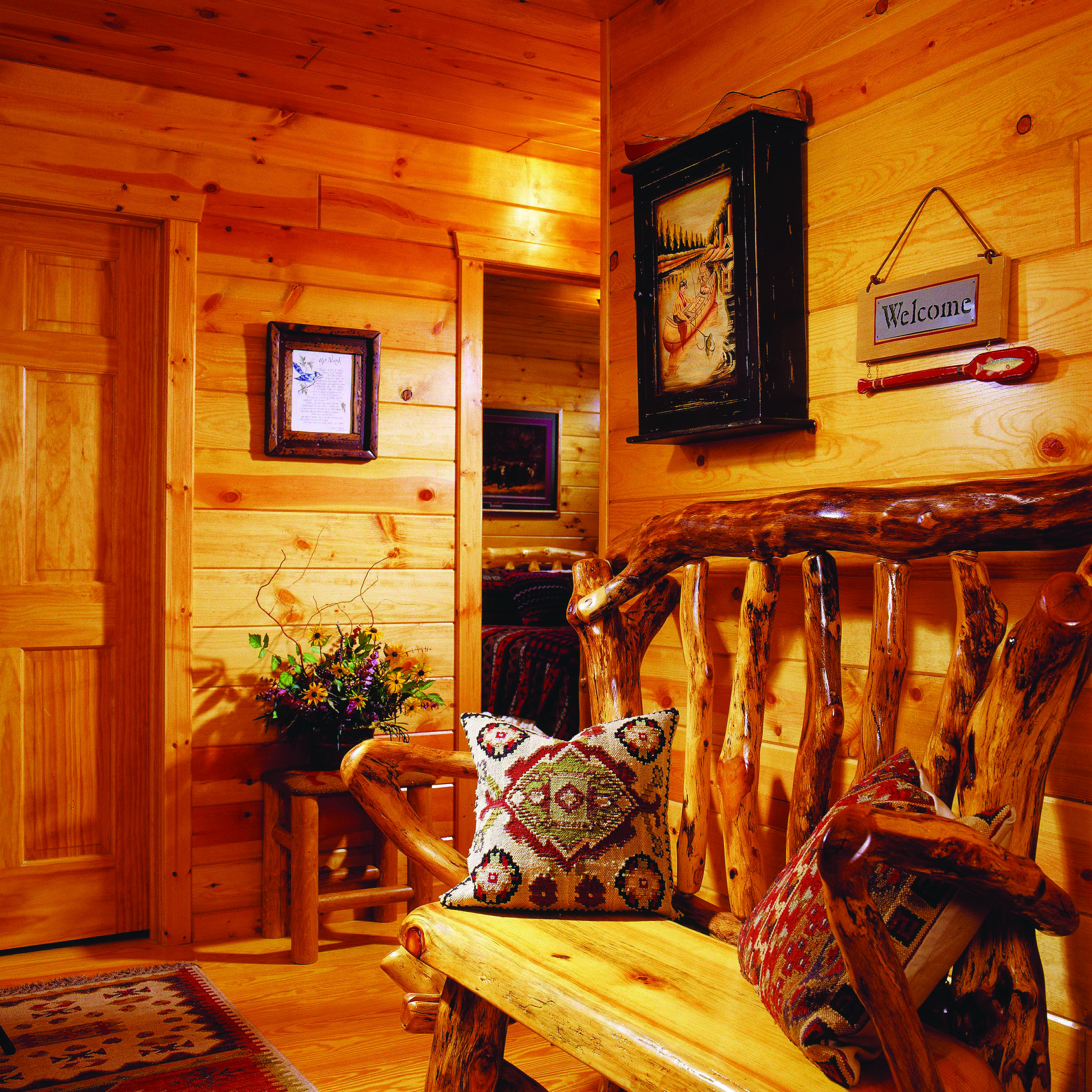 Mountain Lodge Pine Paneling