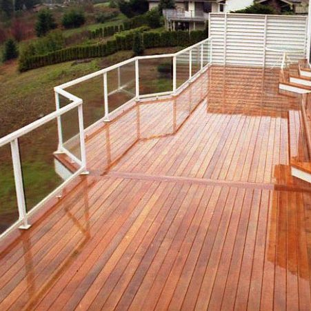 Red Cedar Radius Decking