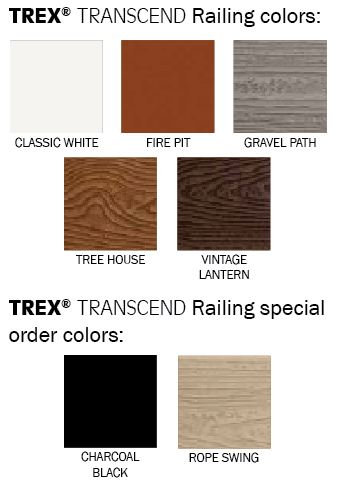TREX Transcend Railing Colors