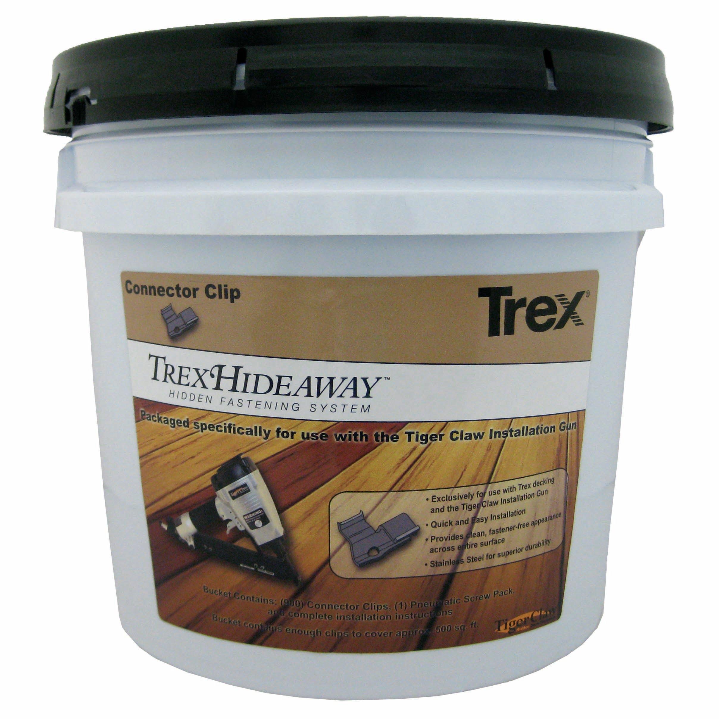 TREX Hideaway Hidden Deck Fasteners Bucket