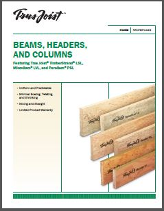 Beams Headers and Columns Spec Guide