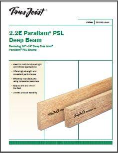 Trus Joist Parallam PSL Deep Beam